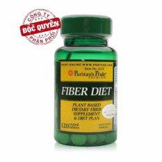 Viên uống bổ sung chất xơ, giảm hấp thụ chất béo, hỗ trợ giảm cân, ngăn ngừa táo bón Puritans Pride Fiber Diet 120 viên HSD tháng 2/2019 nhập khẩu
