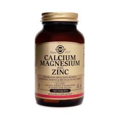 Viên uống hỗ trợ sức khỏe hệ tim mạch, bổ sung Canxi, Magie, Kẽm Solgar 100 viên nén
