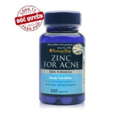 Viên uống kẽm trị mụn Puritans Pride Premium Zinc For Acne 2580  100 viên Kem tri mun