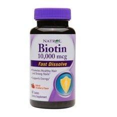Vien Uống Mọc Toc Tan Nhanh Natrol Biotin Fast Dissolve 60 Vien Rẻ