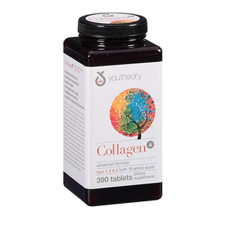 Viên uống ngăn ngừa lão hóa trẻ hóa da Youtheory Collagen +C Type 1 2 & 3 390 viên