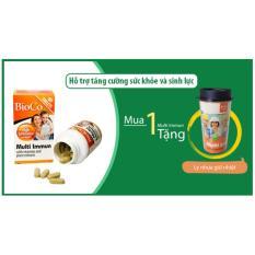 Viên uống tăng cường sức khỏe BioCo Multi Immun kết hợp nhân sâm và vitamin (60 viên/ hộp) - tặng kèm ly nhựa giữ nhiệt