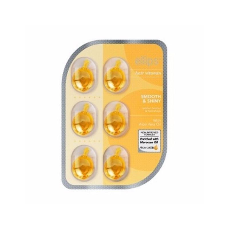 Vitamin Dưỡng Tóc Phục Hồi Hư Tổn Ellips ( Vỉ 6 Viên) (vàng Óng Mượt) nhập khẩu
