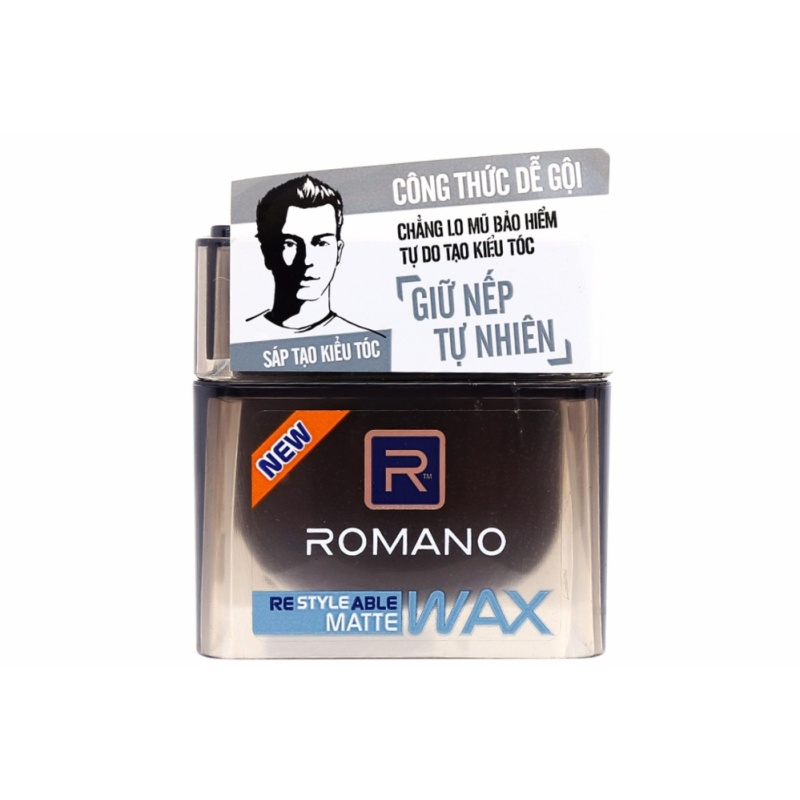 Wax vuốt tóc Romano Giữ nếp tự nhiên 68g (đen) giá rẻ
