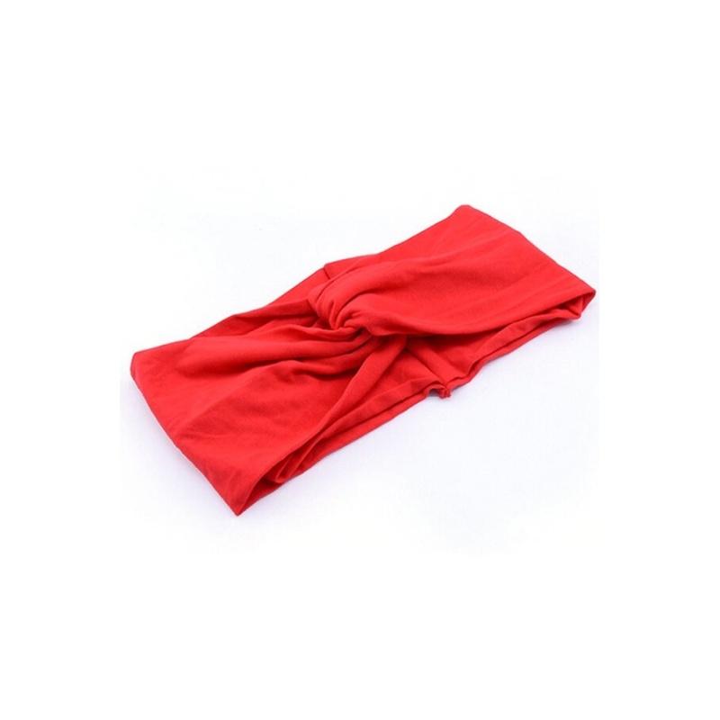 Nữ Đầu Bông Băng Đô Cài Tóc Turban Gọng Xoắn Thắt Nút Lưng (Màu Đỏ)-quốc tế tốt nhất