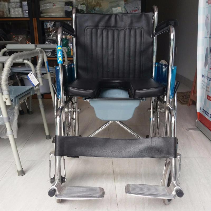Xe lăn bô ONEX-608- xe lăng - dành cho người già- người khuyết tật-có bô vệ sinh-bền-đẹp-rẻ-tốt nhập khẩu