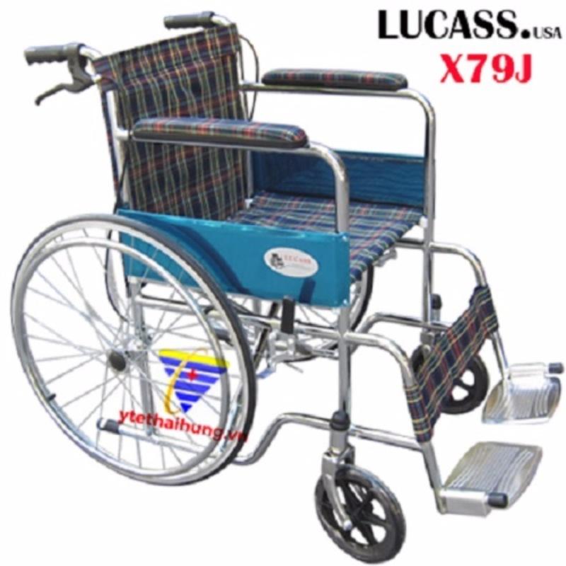Xe Lăn Cao Cấp Có Tay Thắng Vải Caro  Lucass nhập khẩu