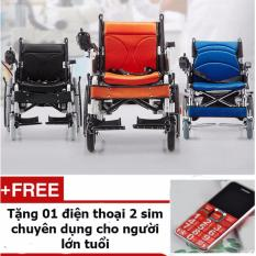 Xe lăn điện cao cấp Habu 2 phổ biến nhất thị trường công suất 500w + Tặng 01 điện thoại di động chuyên dụng cho người lớn tuổi
