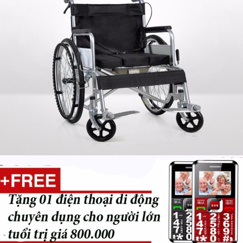 Xe lăn Hehubang + Tặng 01 điện thoại chuyên dụng cho người lớn tuổi (Bạc) nhập khẩu