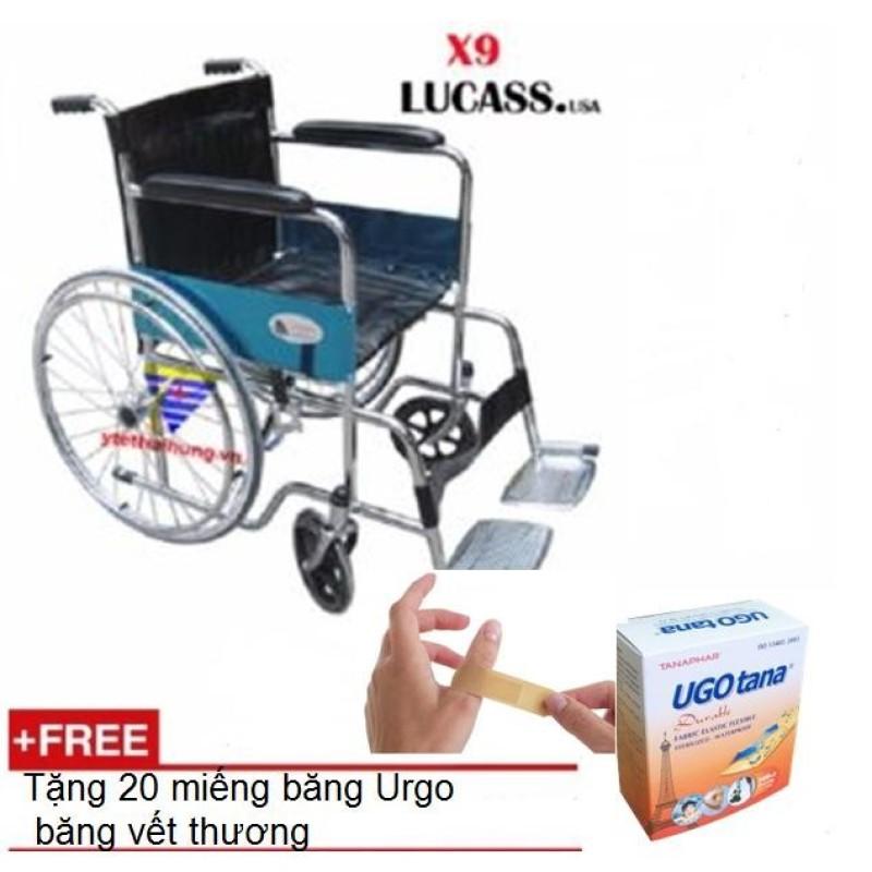 Xe Lăn Tiêu Chuẩn Lucass  + 20 Miếng băng Urgo băng vết thương nhập khẩu