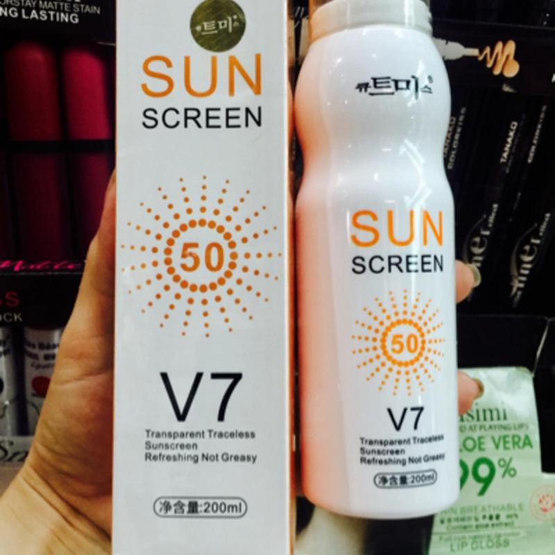 Xịt chống nắng Hàn Quốc Sun Screen V7 nhập khẩu
