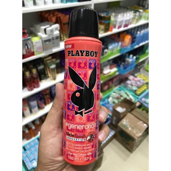 Xịt khử mùi Nữ Playboy Generation 150ml của Mỹ