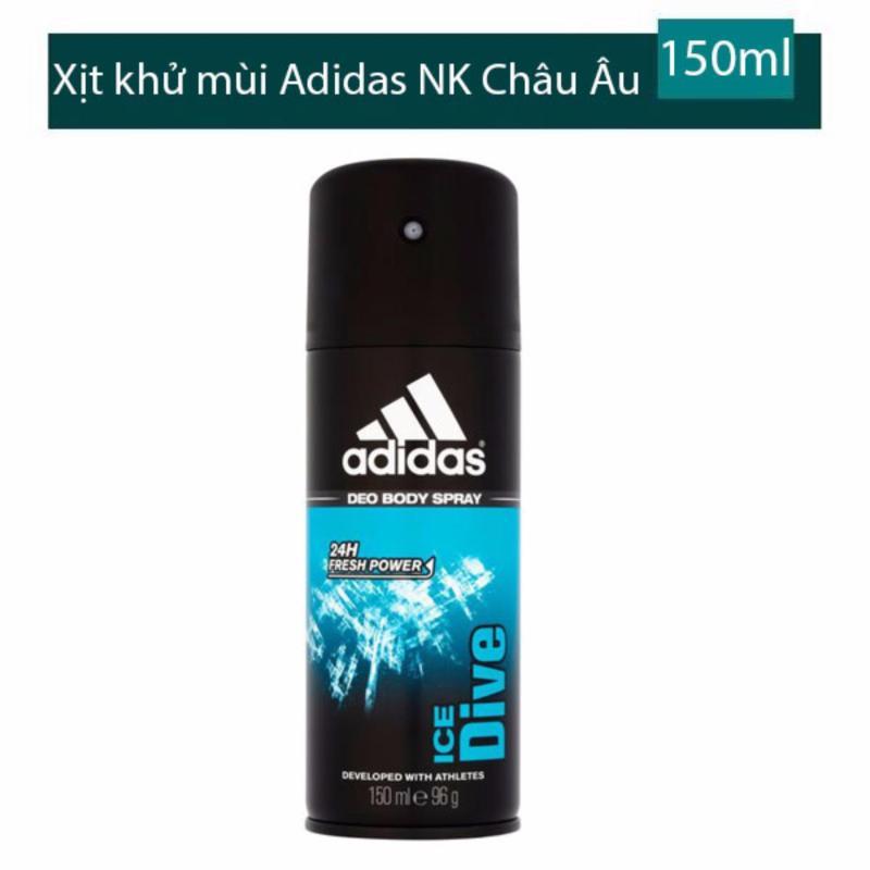 Xịt khử mùi toàn thân cho nam  Adidas Ice Dive - 150 ml tốt nhất