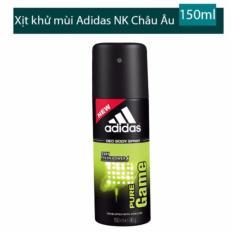 Hình ảnh Xịt khử mùi toàn thân cho nam Adidas Pure Game - 150 ml