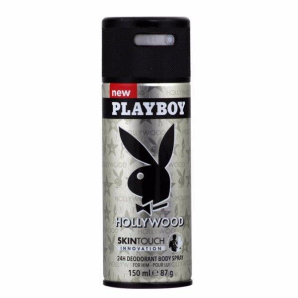 Xịt khử mùi toàn thân dành cho nam Playboy 24h Deadorant Body Spray - Hollywood 150ml
