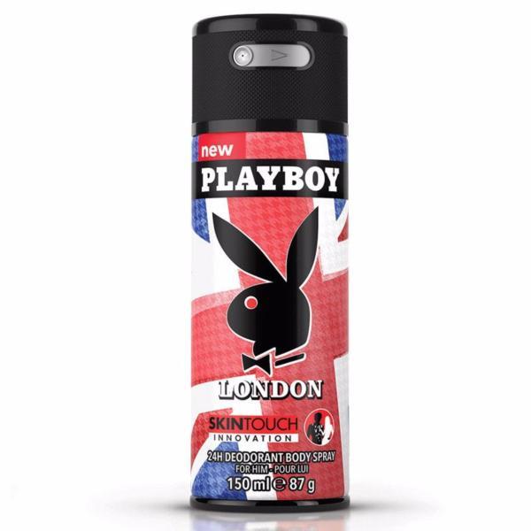 Xịt khử mùi toàn thân dành cho nam Playboy 24h Deadorant Body Spray - London 150ml