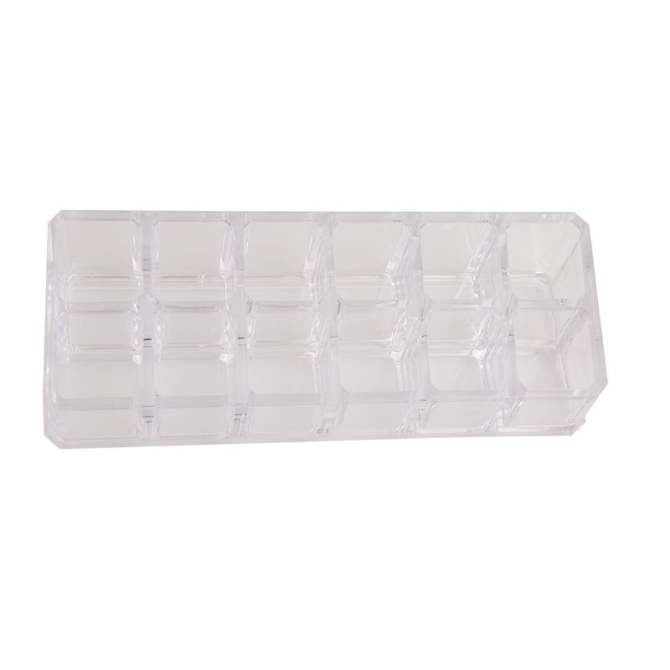 YingWei 12 grids Cosmetic Makeup Storage Organizer Box Lipstick Stand Holder Display Rack Make up Brush