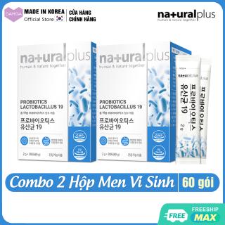 Combo 2 Hộp Men Vi Sinh Lợi khuẩn, Cải thiện Hệ tiêu hóa và Vấn đề đường ruột Probiotics Lactobacillus 19 NATURAL PLUS Hàn Quốc thumbnail