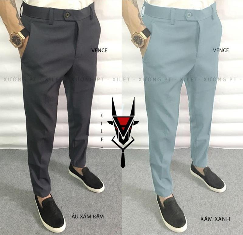 Quần tây( âu ) nam 5 màu đen , ghi đậm , ghi nhạt , xanh than và xám xanh kiểu dáng Hàn Quốc