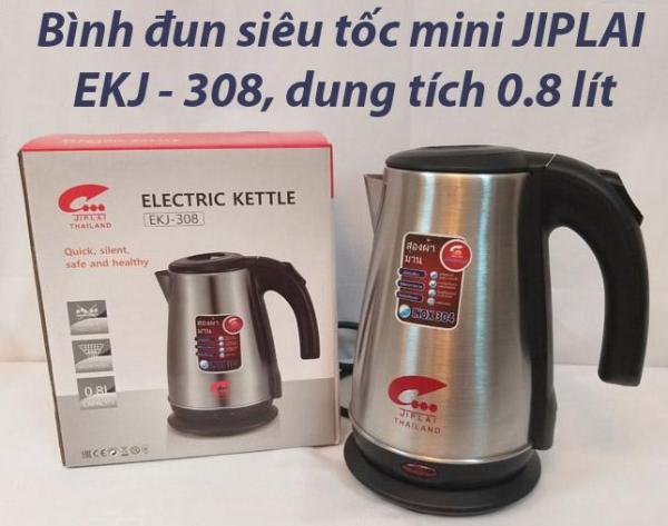 Bảng giá Bình đun nước siêu tốc inox 304 mini du lịch JIPLAI EKJ-308, dung tích 0,8 lít Điện máy Pico