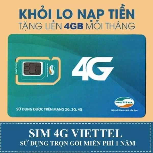 Bảng giá Sim 4G Viettel D500 GIẢM GIÁ 50% Tặng 4GB Data Tốc Độ Cao Mỗi Tháng - Trọn Gói 1 Năm Sử Dụng Phong Vũ