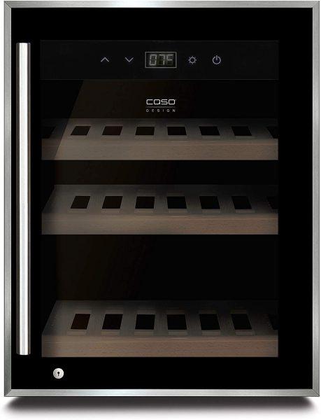 Tủ Caso Wine Safe 12 black, Màu Đen, Công suất 60W.