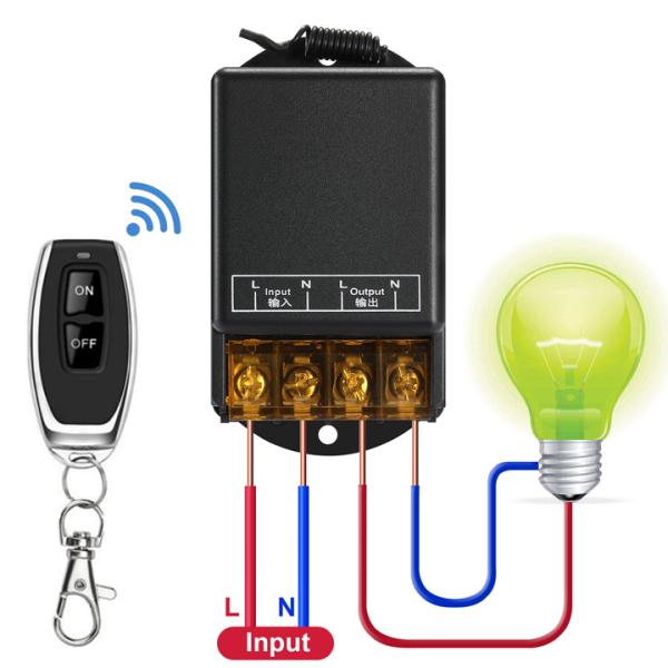 [MẪU MỚI NĂM 2020] Công tắc điều khiển từ xa 100m/30A công suất lớn bật tắt máy bơm nước, máy rửa xe