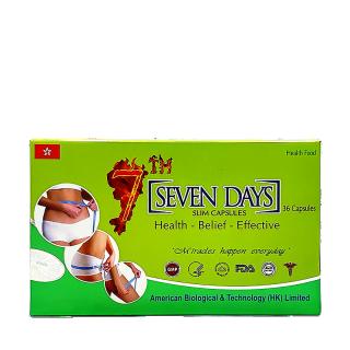 viên uống giảm cân Seven Days Hộp 36 viên Date 2023 thumbnail