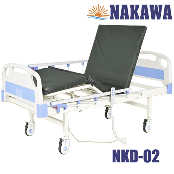 GIƯỜNG Y Tế ĐIỆN 2 CHỨC NĂNG NAKAWA NKD-02 - Giường bệnh nhân điện đa năng -[Giá:10.990.000]- Giường bệnh viện điện cơ giá rẻ - Thiết bị y tế - Hỗ trợ chăm chăm sóc người bệnh - medical bed