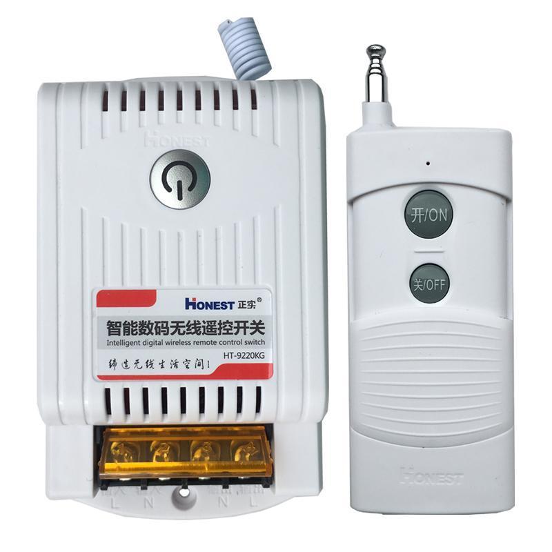 Công tắc điều khiển từ xa 1Km HONEST 9220KB 30A/220V bật tắt máy bơm động cơ công suất lớn có chứ năng học lệnh ổ cắm điều khiển từ xa công tắc không dây công tắc điện thông minh