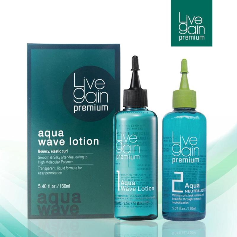 Uốn Nhanh Công Thức Mạnh Livegain Premium AQUA Wave Lotion 160ml + 160ml Hàn Quốc giá rẻ