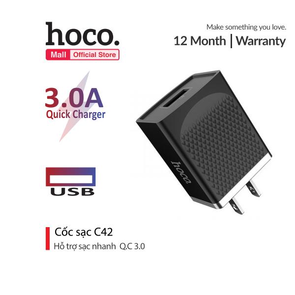 Bảng giá Cốc sạc Hoco C42 Quick Charge 3.0 USB tương thích rộng cho iPhone iPad Samsung Huawei Xiaomi Oppo máy chơi game Phong Vũ