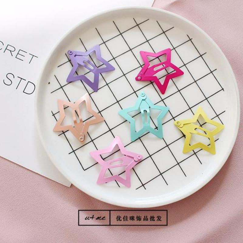 Combo 6 cái kẹp hình ngôi sao đủ màu sắc ( nguyên vỉ như hình ) tốt nhất