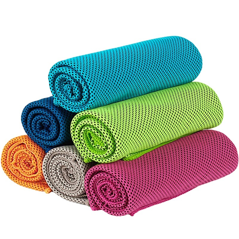 6 Pack Cooling Towel Soft Breathable Ice Sports Towel Absorbent Fast Drying Towels for Yoga Sport Workout Fitness