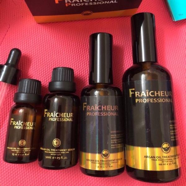 Fraicheur- tinh dầu dưỡng phục hồi tóc hương nước hoa fraicheur argan oil treatment, cam kết hàng đúng mô tả, chất lượng đảm bảo an toàn đến sức khỏe người sử dụng