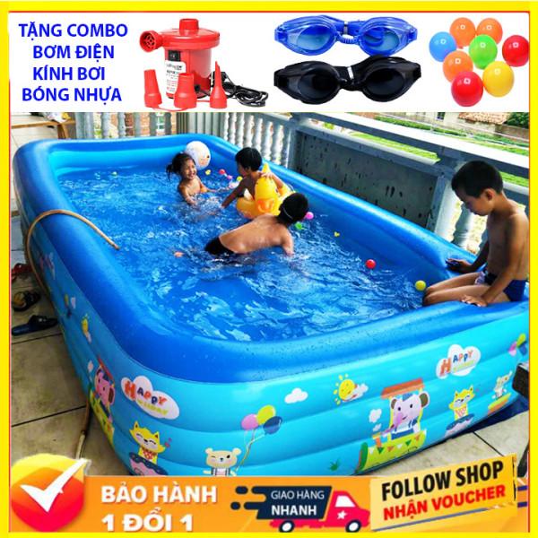 ( TẶNG KÈM COMBO KHỦNG ) Bể bơi phao cho bé 3 tầng 2m1 CÓ BỘ VÁ BỂ ,Bể Bơi Trẻ Em Hồ Bơi Trong Nhà, bể bơi cho be, bể bơi cho người lớn Mua Ngay Bể Phao Bơi 3 Tầng Cao Cấp - BB2M1 - Bể bơi gia đình