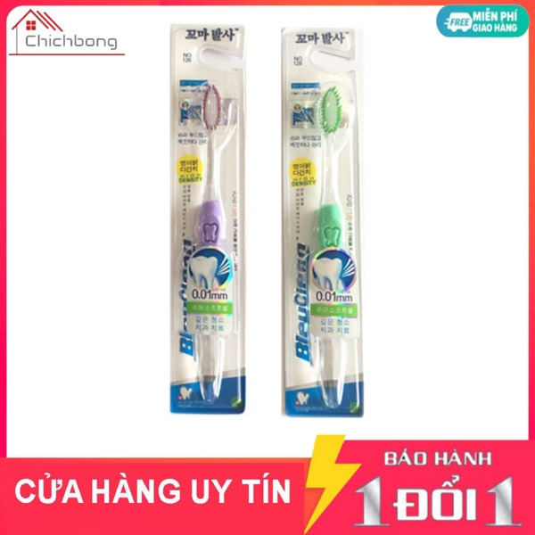 Combo 2 bàn chải đánh răng Hàn Quốc đầu sợi siêu mềm cho cả gia đình sợi 0,01mm giá rẻ