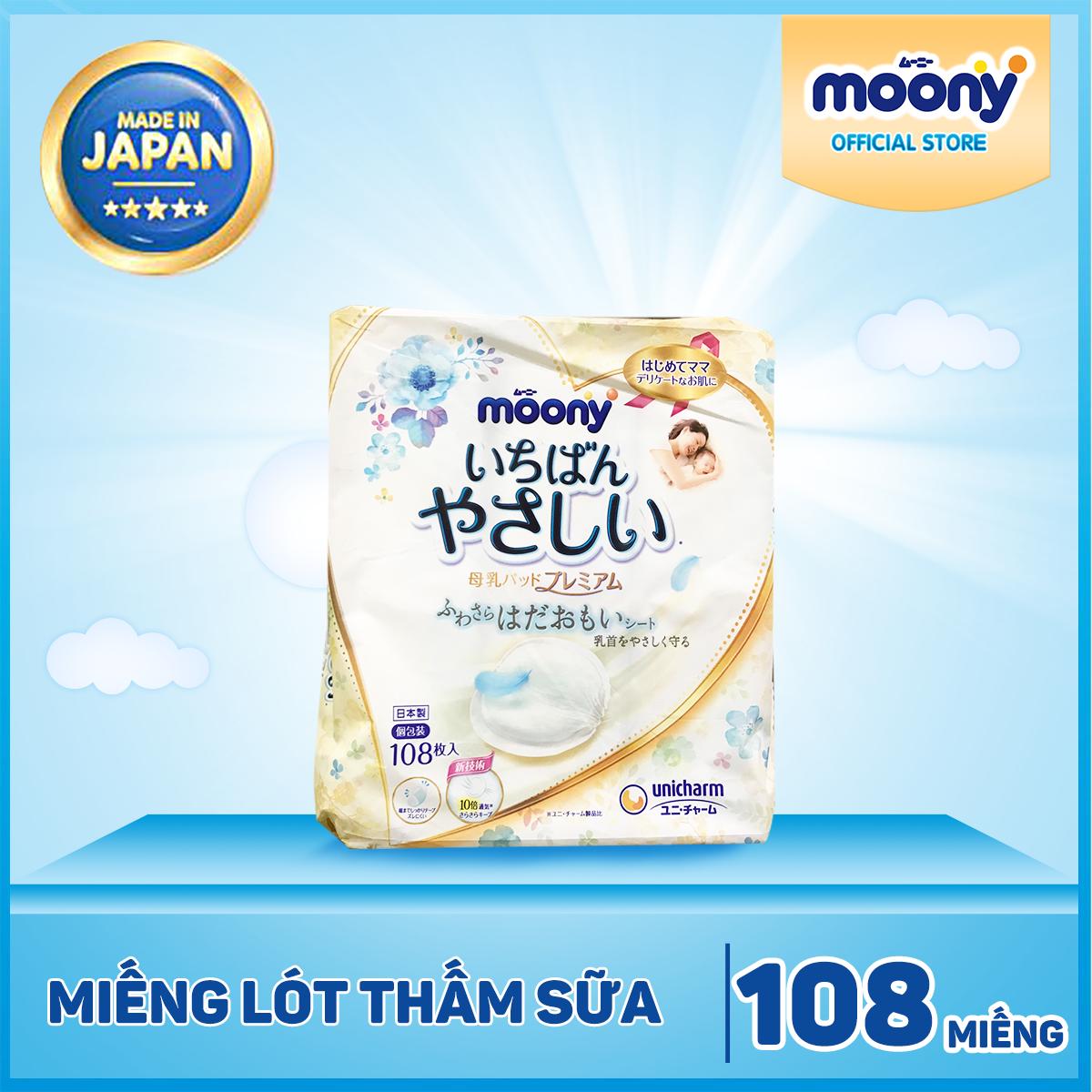 MẪU MỚI 2020 - Hộp 108 Miếng Lót Thấm Sữa Moony Cho Mẹ Siêu Tiết Kiệm Siêu Khuyến Mãi