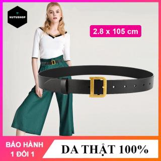Thắt lưng nữ đai váy Nutushop kiểu dáng thời trang cá tính chất liệu da bò cao cấp, bản nhỏ thích hợp với quần jean, quần âu, váy, đầm NT273 thumbnail