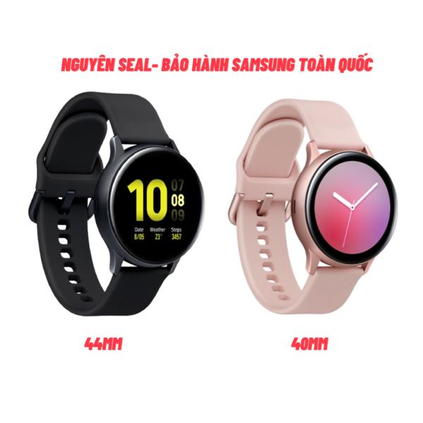 [NGUYÊN SEAL] Đồng Hồ Thông Minh Samsung Galaxy Watch Active 2 44MM Mặt Nhôm, Tặng Kèm Dây Đeo Zin, Đo Nhịp Tim, Đếm Bước Chân, Nghe Nhạc, Nhận Cuộc Gọi Hàng Chính Hãng