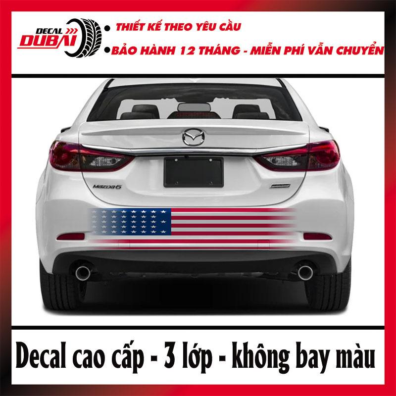 Tem Dán Cốp Sau Mazda 6 kiểu cờ Mỹ
