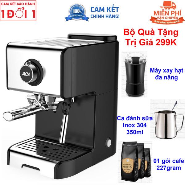 Quà Tặng Trị Giá 299K - Miên Phi Giao Hàng Toàn Quốc - Hướng Dẫn Sử Dụng Máy pha cà phê Espresso ACA AC-ES12A bán tự động 20 Bar dành cho gia đình - Máy pha cafe ACA ES12A (hàng có sẵn, giao hàng ngay)