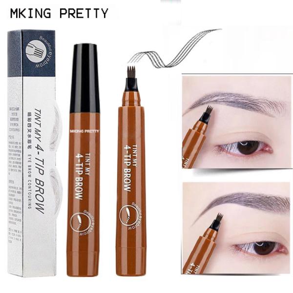 [GIÁ SỈ] Bút chì kẻ mày phẩy sợi 4D Suake giúp lông mày đậm và đẹp hơn CKM56-K04T2 Đầu chải mày tách làm 4 điểm mảnh