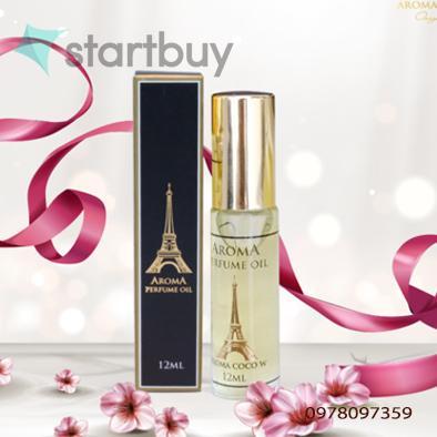 Tinh dầu nước hoa Pháp dạng lăn 12ml Aroma cao cấp