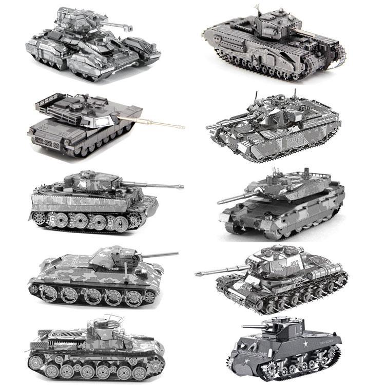 Mô Hình 3D Bằng Thép Tự Ráp Xe Tank Các Loại Giá Siêu Rẻ