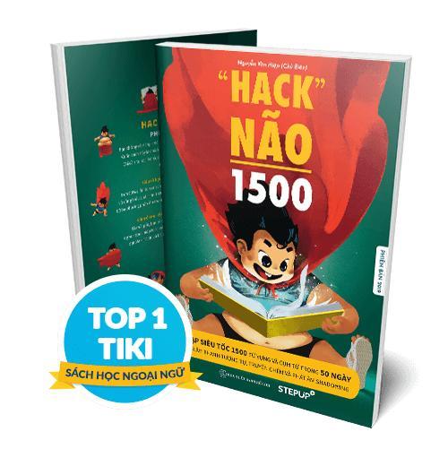 Sách Hack Não 1500 Từ Tiếng Anh 2019 - Bên Trong Có Màu