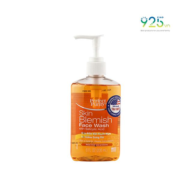 Sữa rửa mặt trị mụn Perfect Purity dung tích 236ml - Skin Blemish Face Wash 236ml cao cấp