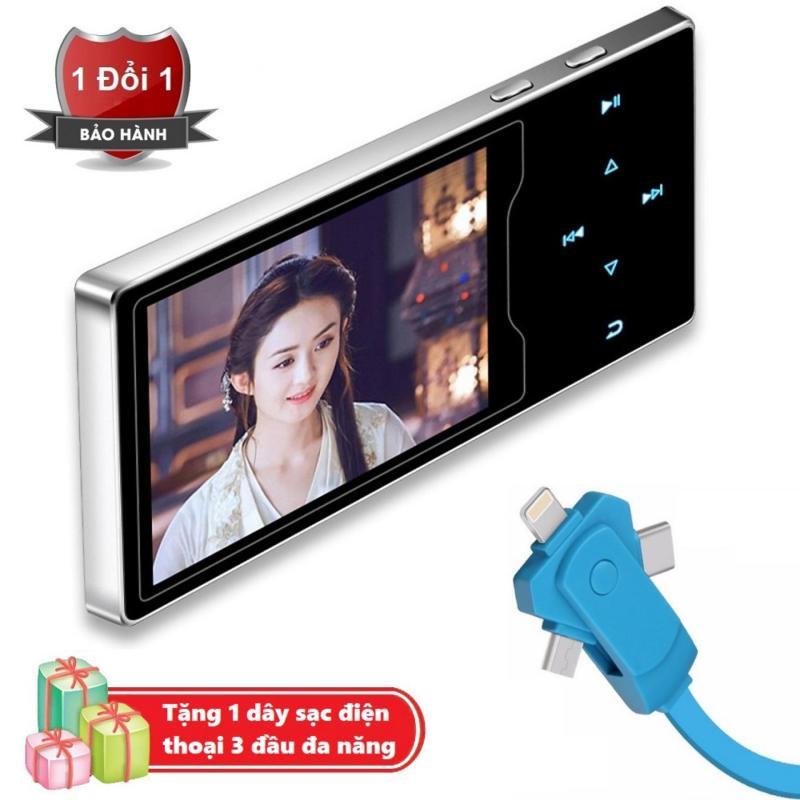 Máy nghe nhạc Ruizu D08 cao cấp màn hình HD 2.4 inch Tặng kèm Dây sạc điện thoại 3 đầu đa năng