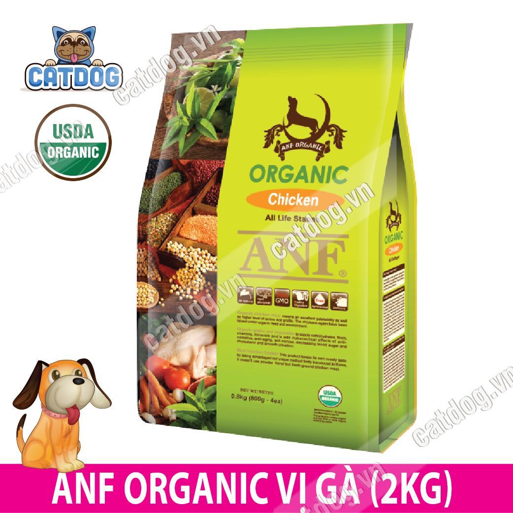 Hạt Anf Organic Vị Gà 2kg (chó) By Catdog Pet Store.