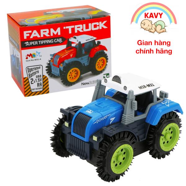 Đồ chơi mô hình xe tải nông trại chạy bằng pin, nhanh và vô cùng bền bỉ, nhựa nguyên sinh an toàn (nhiều màu sắc)-KAVY